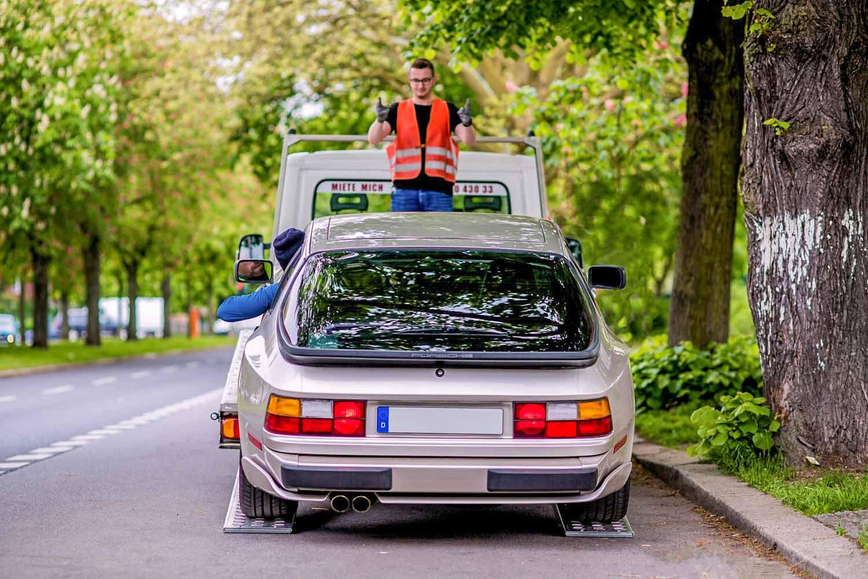 Autotransporter beladen